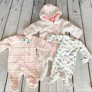 3 FOR 1 - Baby Winter Footie Bodysuits (3 Set)
